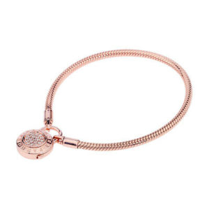 Rose Smooth Signature Padlock Bracelet
