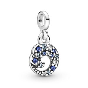 My Blue Ocean Wave Dangle Charm