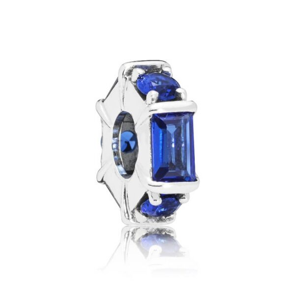 Blue Ice Cube Spacer Charm