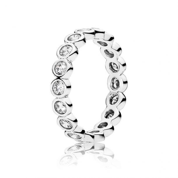 Band of Stones Cubic Zirconia Ring
