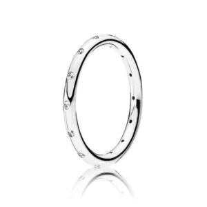 Pandora Jewelry Simple Sparkling Band Cubic Zirconia Ring in Sterling Silver