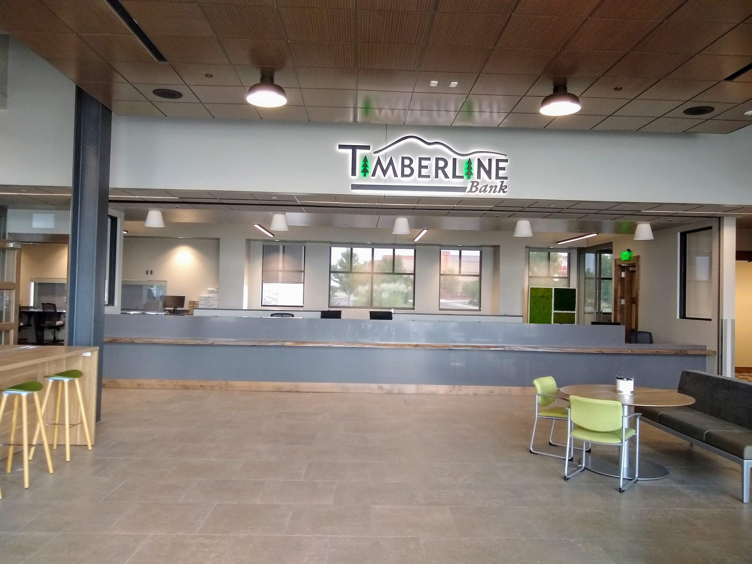 Timberline Bank teller line
