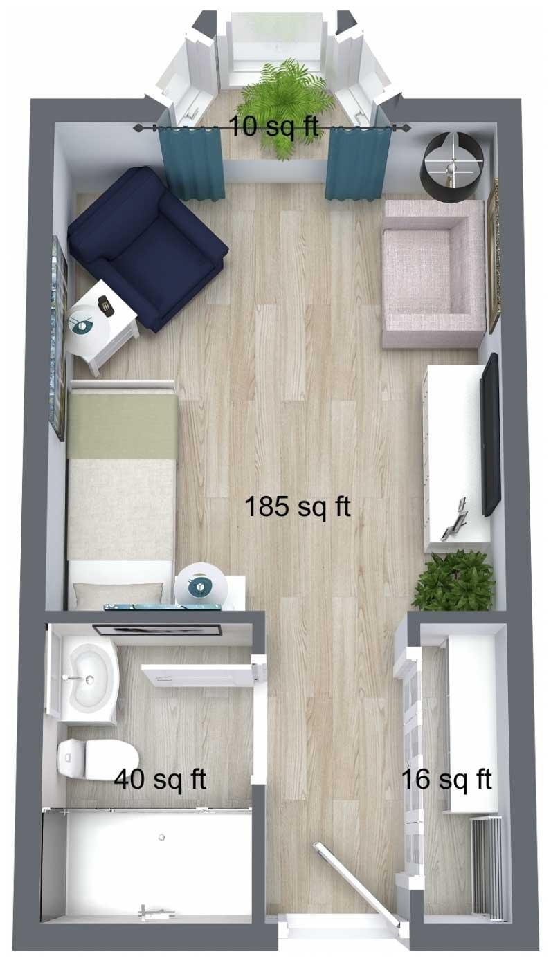 King Place Suite Floor Plan