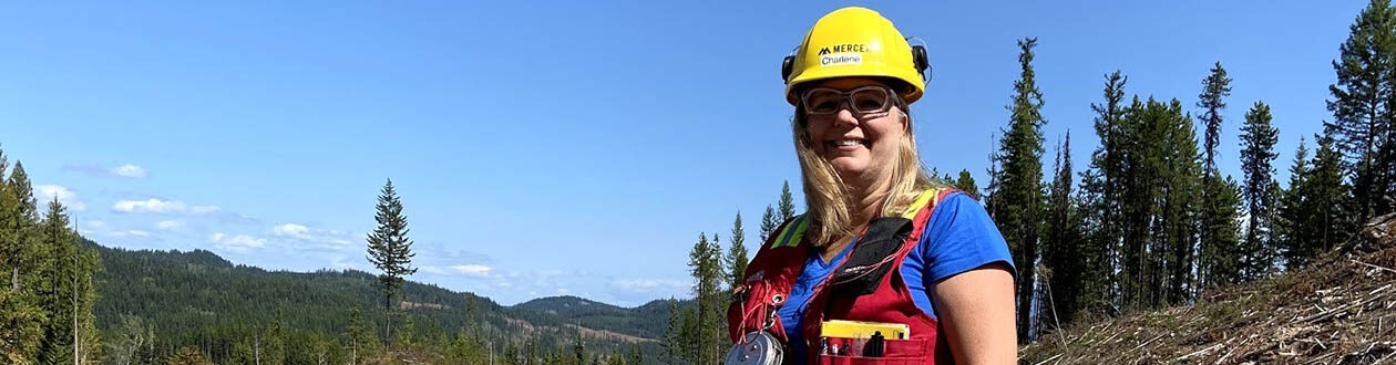 Charlene Strelaeff, Fibre Forester at Mercer Celgar, is the recipient of the 2020 FPAC Women in Forestry award