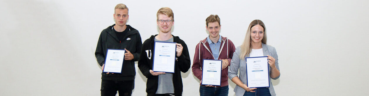 Mercer Stendal's 2021 apprentices who have completed their training at the pulp mill in Arneburg, Germany
