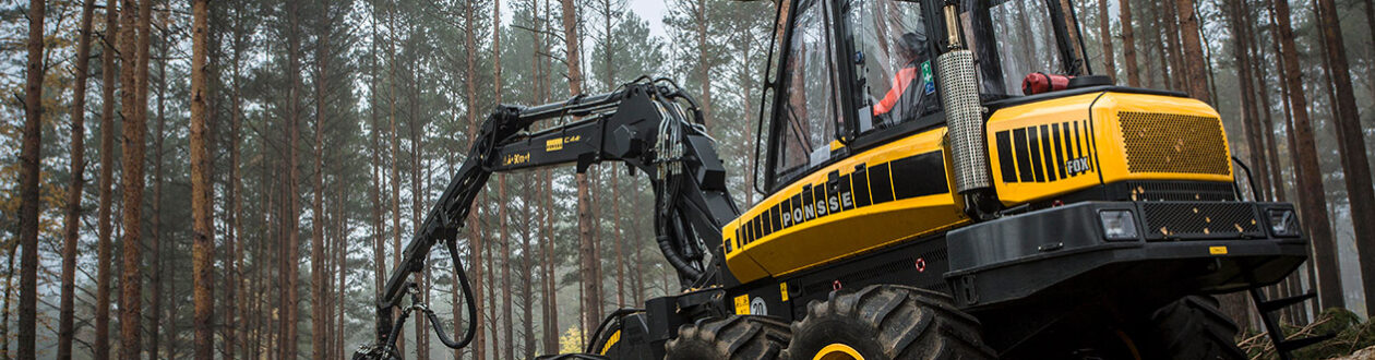 A Mercer Holz harvester in the Harz Mountains