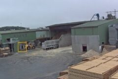 Mercer Timber Products yard in Friesau, Germany, noted after a incident with a loader reversing dangerously close to an exit door