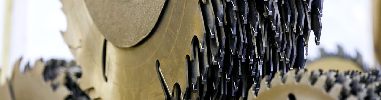 Saw blades at the Mercer Timber Products sawmill in Friesau, Germany