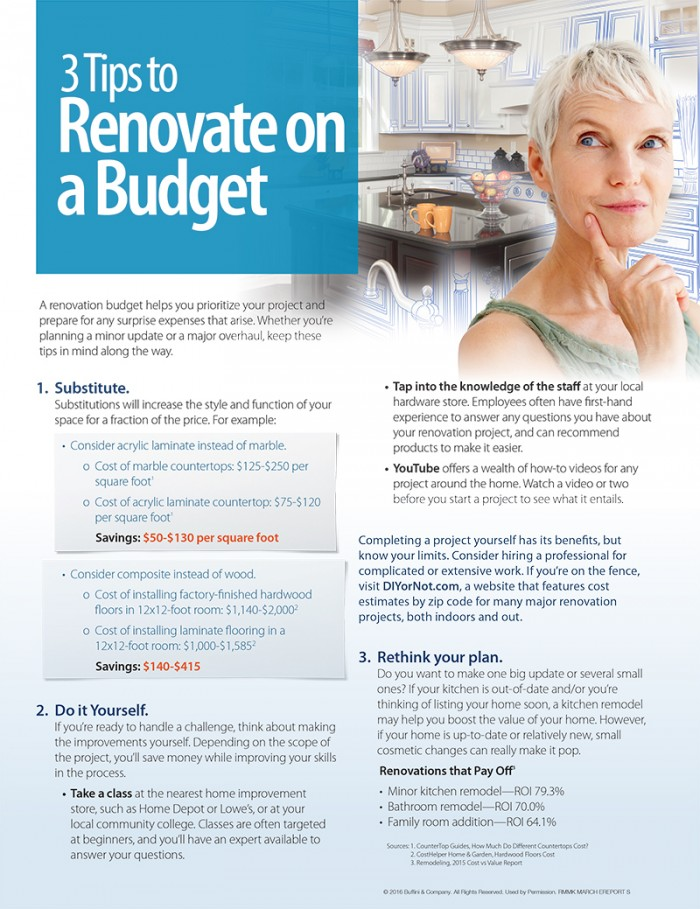 3 tips to renovate on a budget