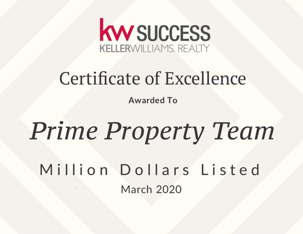 Award - Prime Property Team