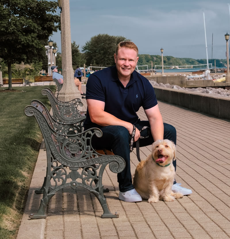 Sean Dailey and his dog