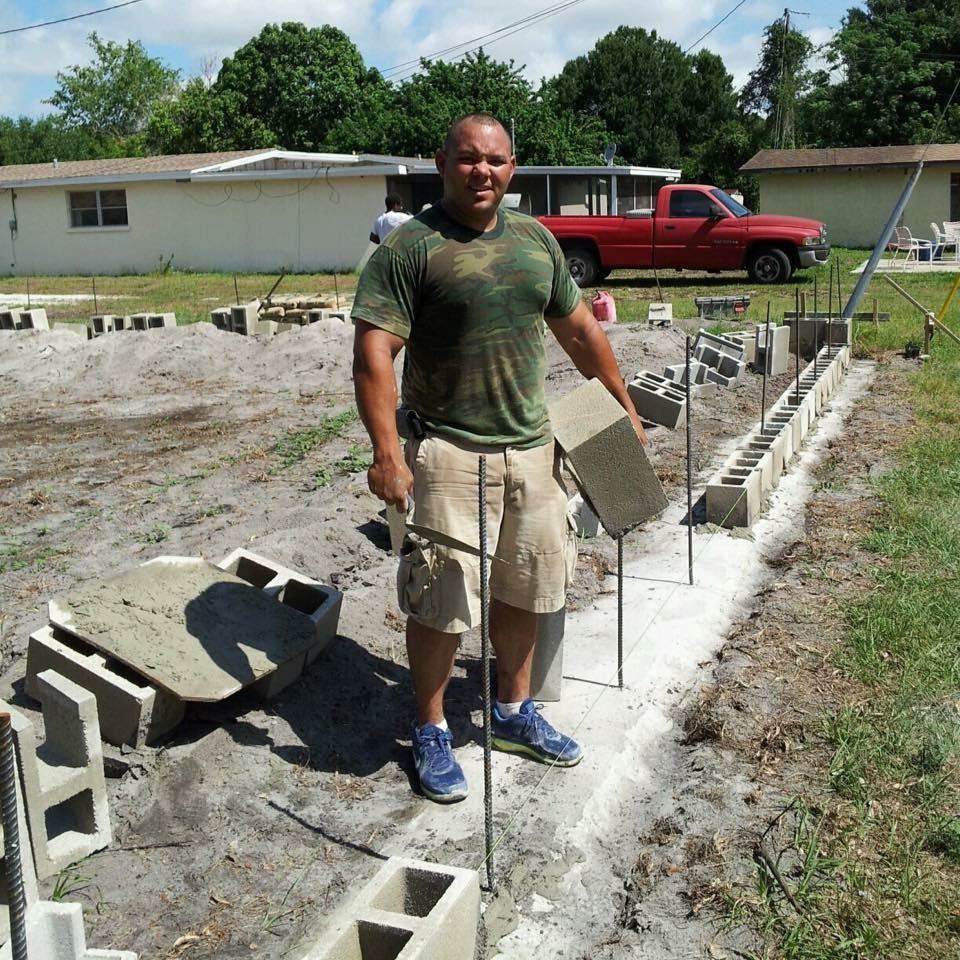 Laying Bricks For A Foundation
