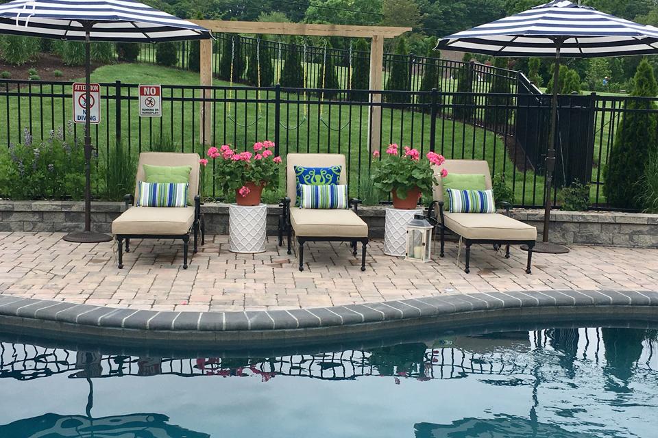exterior design for poolside