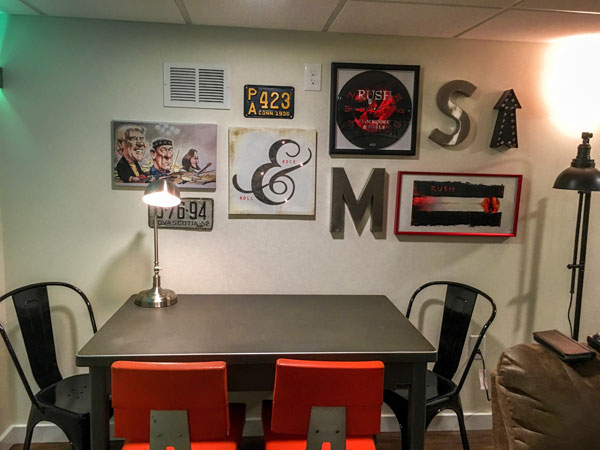 make a wish foundation man cave for a boy with cancer