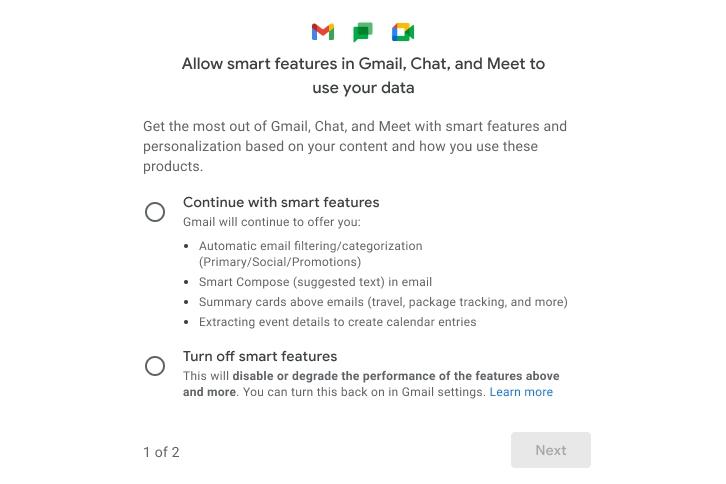 สามารถเลือกปิด Smart Feature และการเชื่อมต่อข้อมูลกับแอปอื่น ๆ ใน Gmail ได้แล้ว วงการไอที โปรแกรมใหม่ แนะนำแอพ ปิดSmartFeatureในGmail