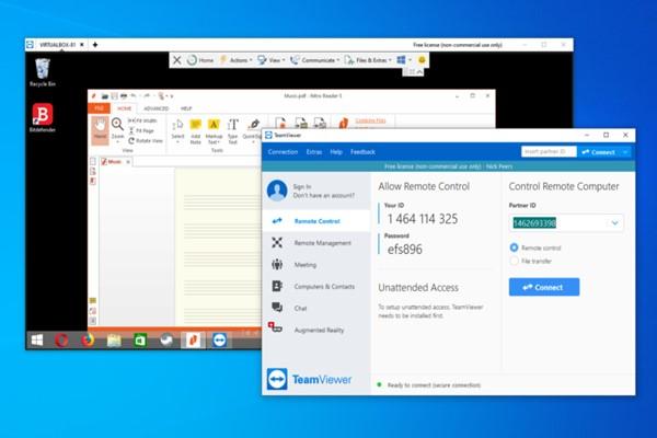 TeamViewer 15 โปรแกรมควบคุมระยะไกลที่เหมาะสำหรับใช้งานในช่วง Work From Home วงการไอที โปรแกรมใหม่ แนะนำแอพ TeamViewer15