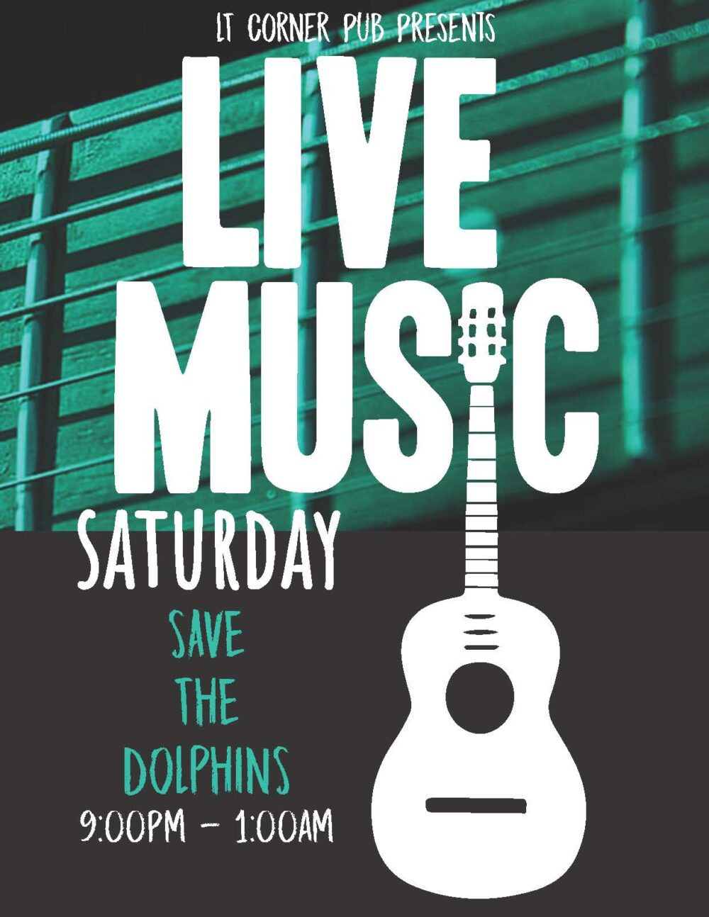 Live Music Saturday with Save The Dolphins