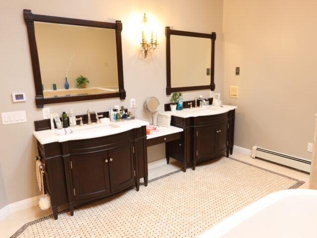 double bathroom project