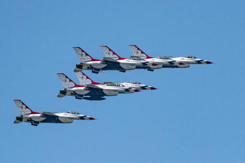 The Navy's Blue Angels and the Air Force's Thunderbirds