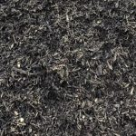 Black Mulch Texture Closeup