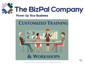Workshops for Small Businesses and Self-Employed - The BizPal Company, LLC