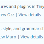 TinyMCE Plugins