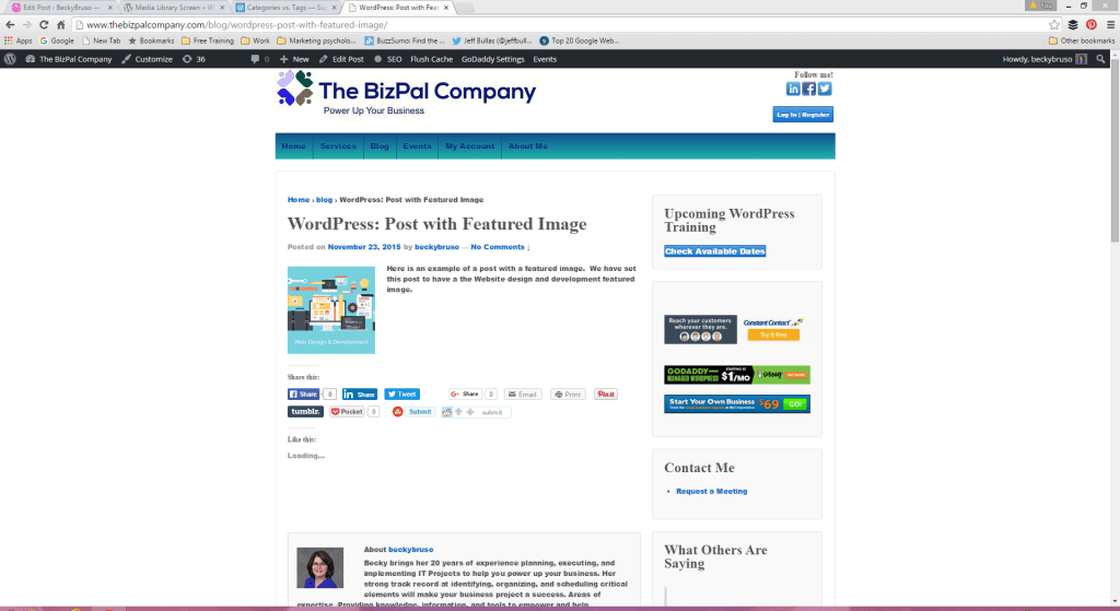 WordPress Featured Image Variation