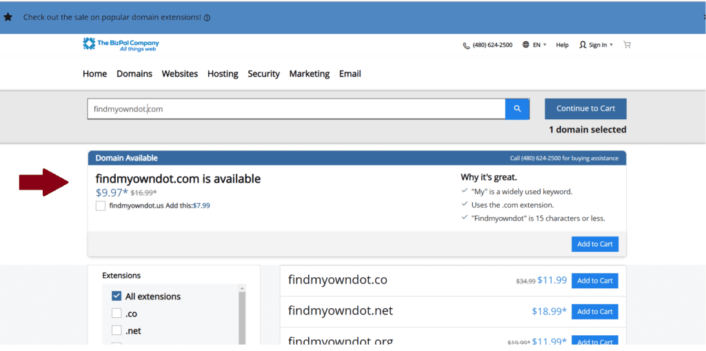 Domain Name is Available