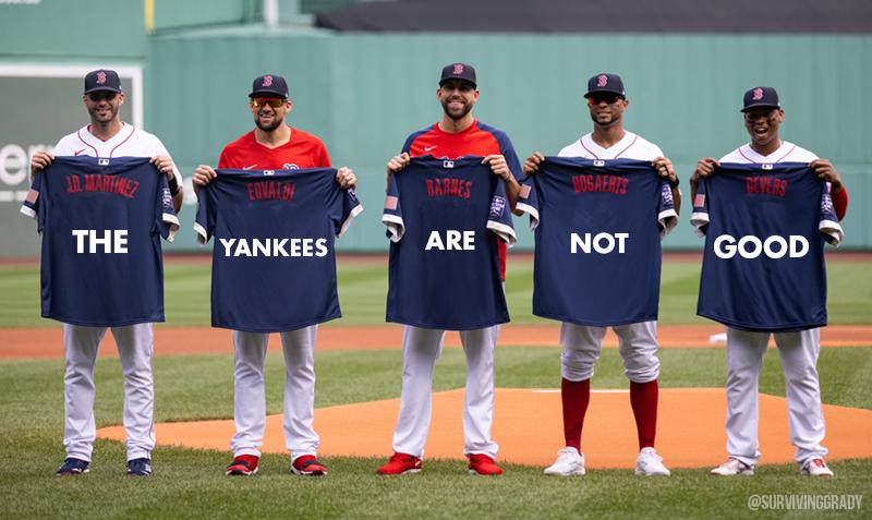 Red Sox Yankees shirts