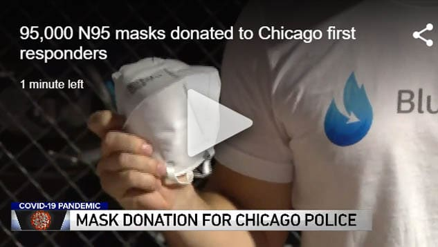 95,000 N95 masks donated to Chicago first responders