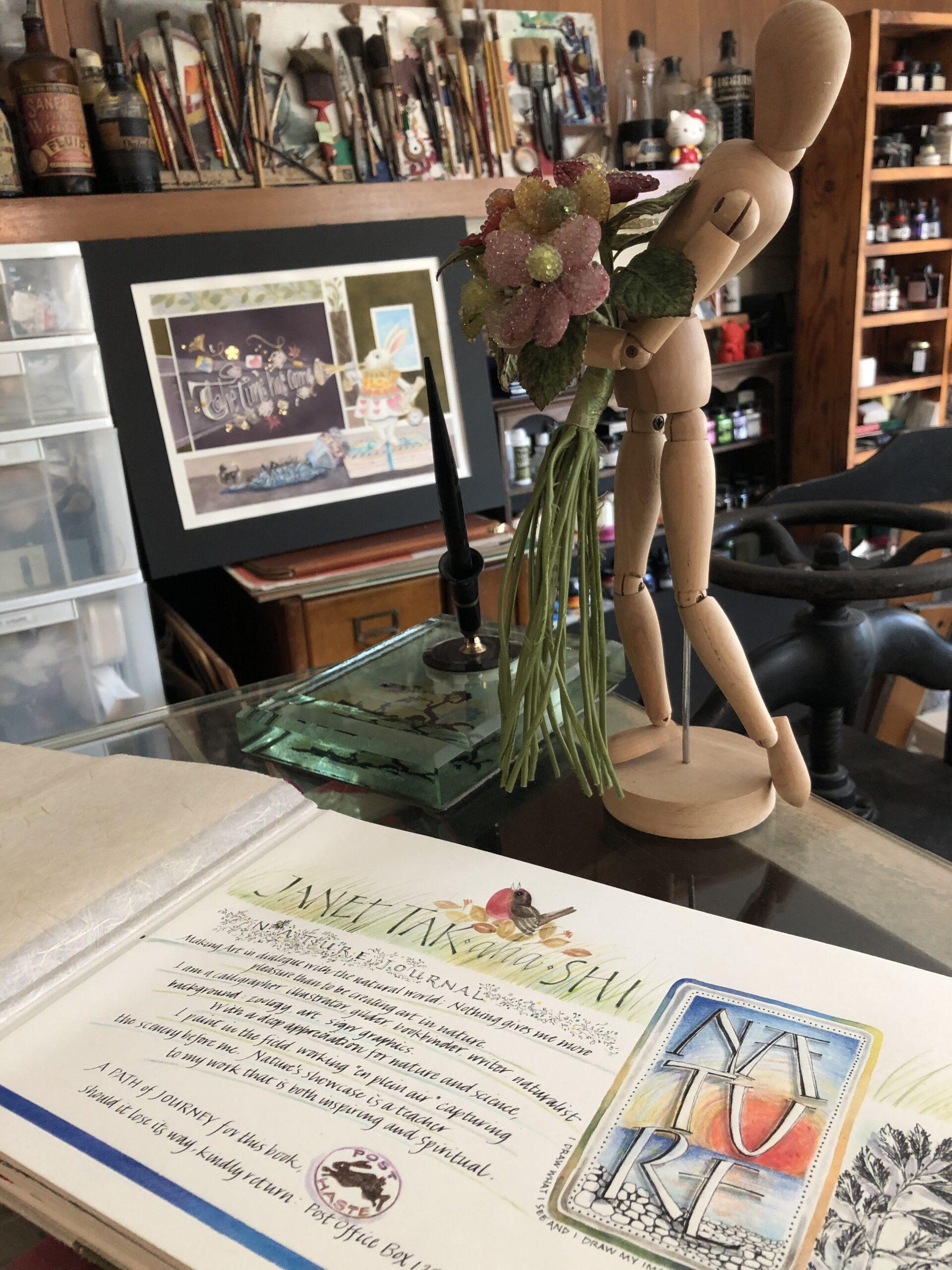 Janet's Mannequin in her studio