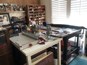 Janet Takahshi's art studio