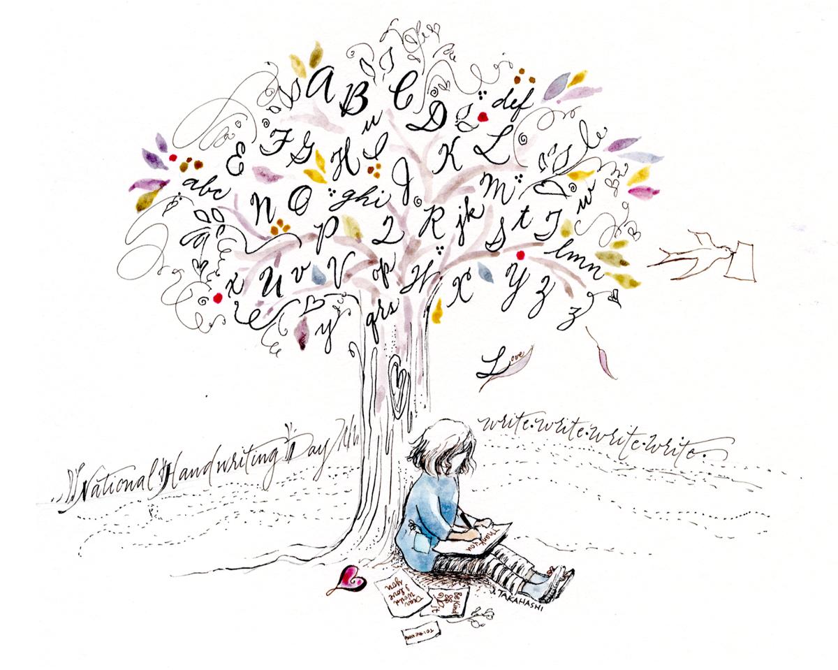 Muse handwriting tree by Janet Takahashi