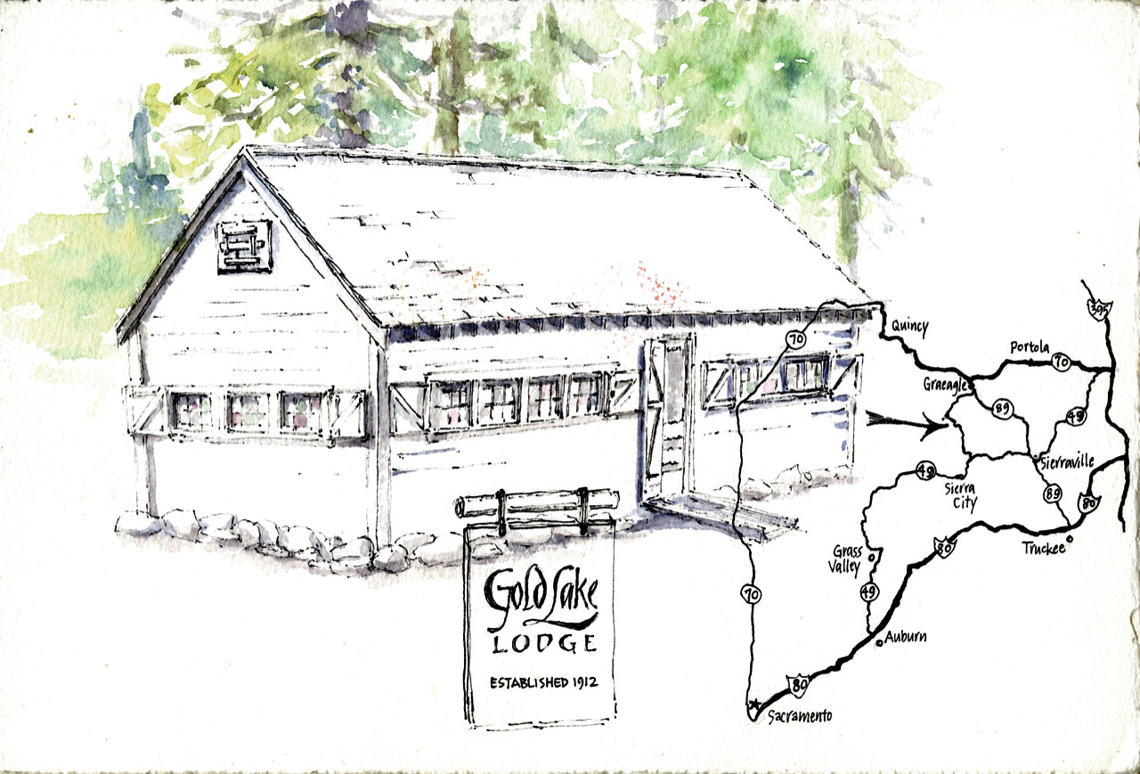 Gold Lake Lodge sketch