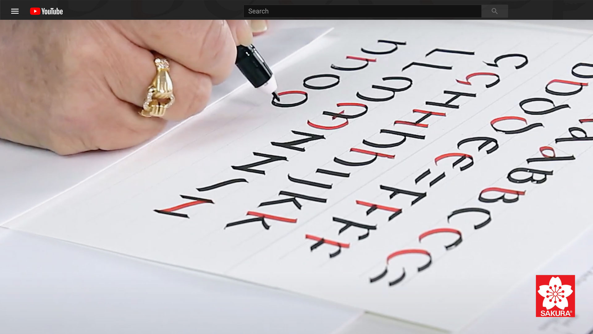 A Beginners Guide to Uncial Calligraphy; A-P Video with Janet Takahashi