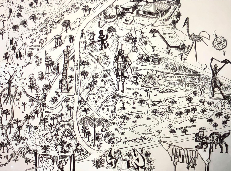 Garden Map by Janet Takahashi