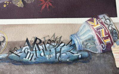 Ink Bottle, Spilled Words
