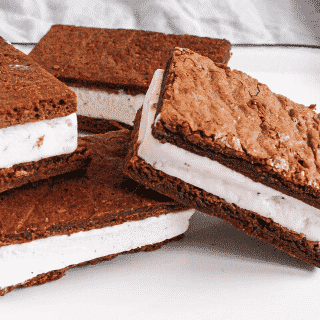 Four Ice Cream Sandwiches stacked on each other