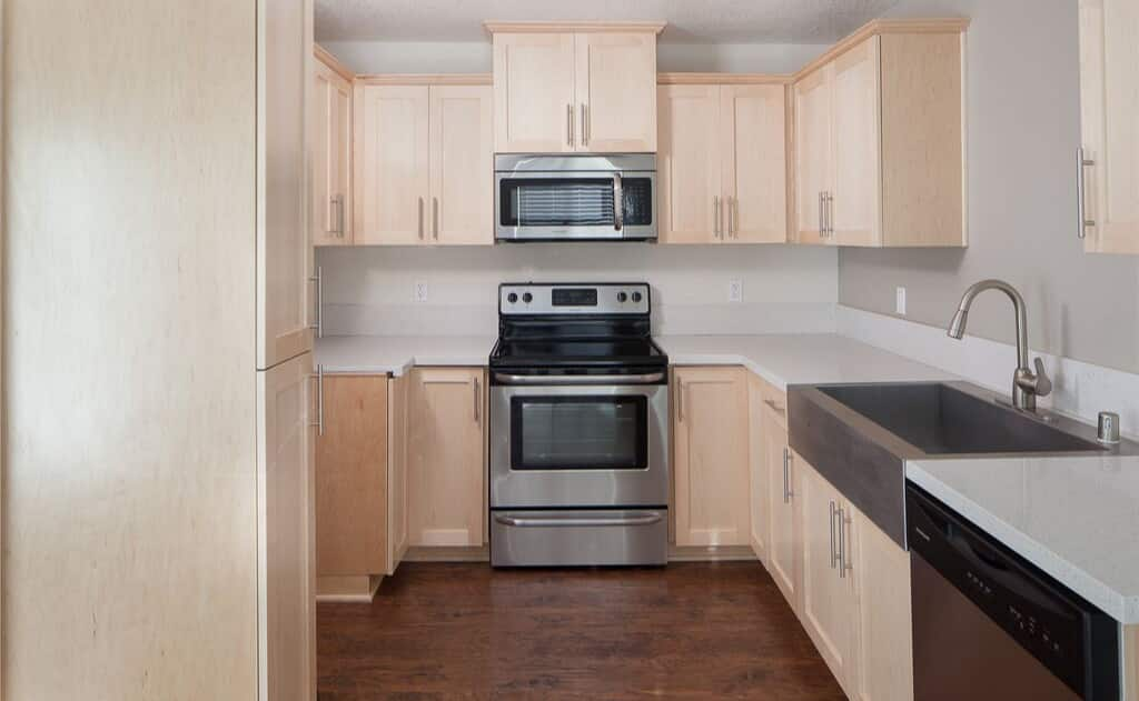 Avignon Apartment Homes Stainless Steel Details in Kitchen