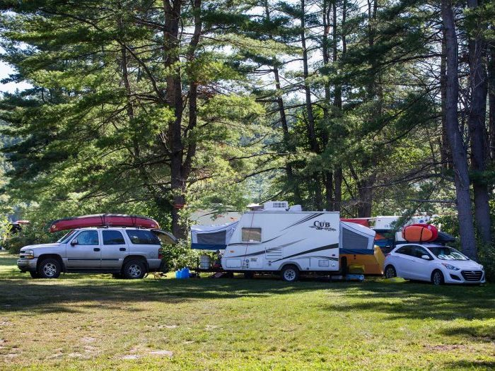 RV and Trailer Camping on the Ottawa River