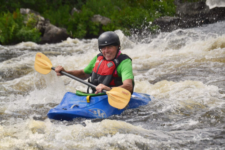Adult Beginner Ottawa Kayak School Wilderness Tours National Whitewater Park Smiling