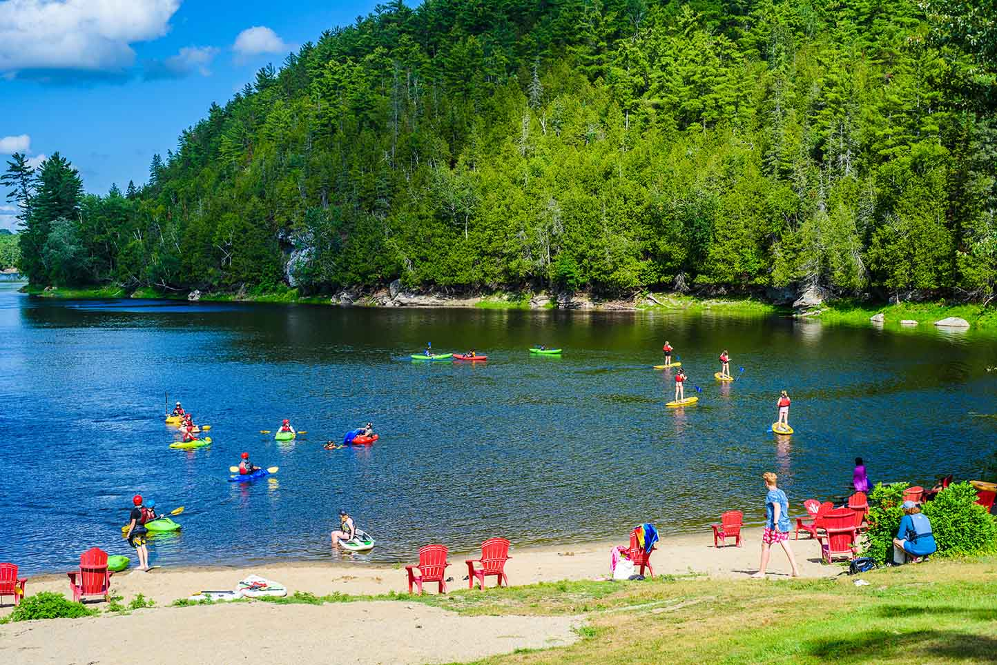Beach Resort Activities National Whitewater Park Wilderness Tours SUP Kayaks Lounge Relax Ottawa River Ontario Canada Best Summer Vacation