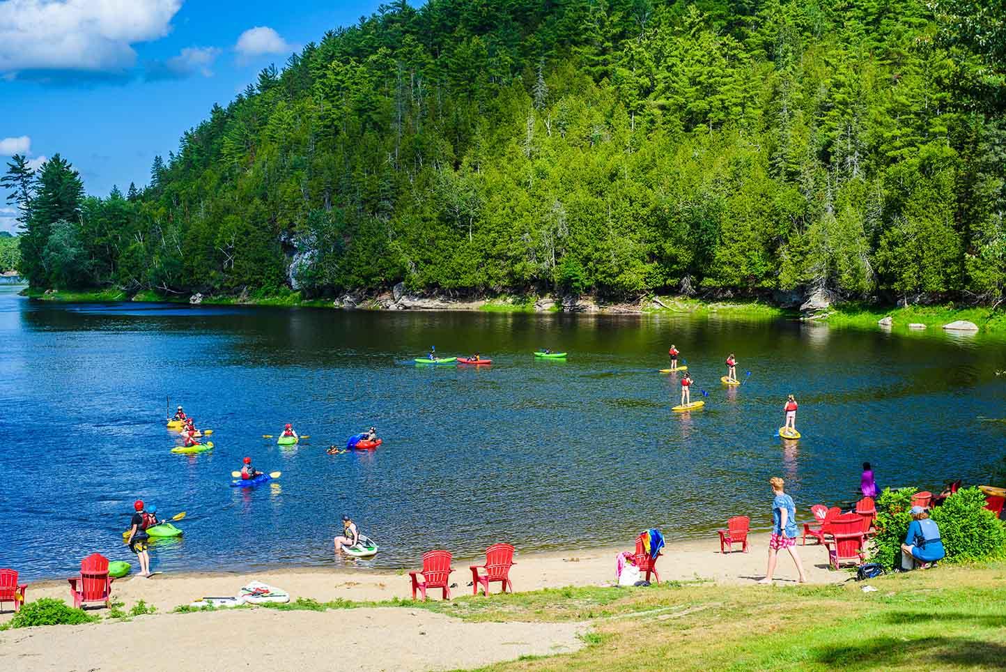Beach Resort Activities National Whitewater Park Wilderness Tours SUP Kayaks Lounge Relax Ottawa River Ontario Canada Best Summer Vacation