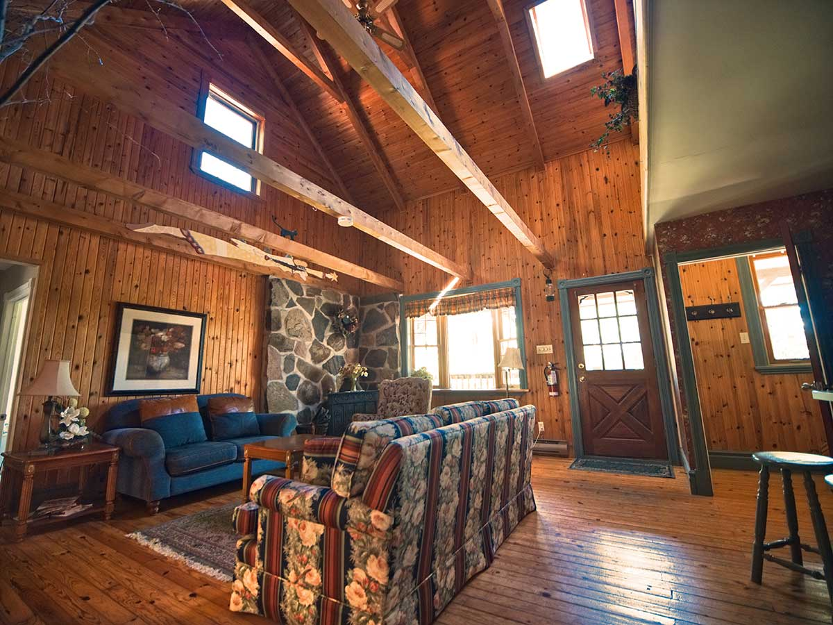 Living Area The Manor Rental Accommodation at Wilderness Tours Raft and Kayak Resort