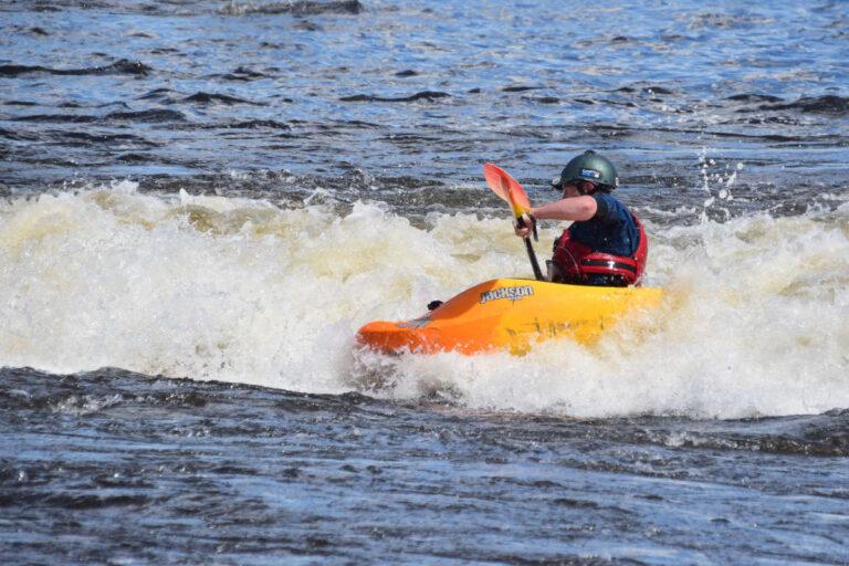 Adult Intermediate Surfing Ottawa Kayak School Wilderness Tours National Whitewater Park
