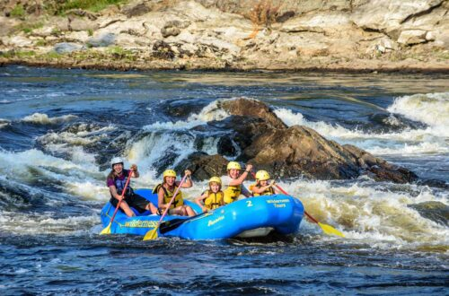 Gentle Family Rafting on the Ottawa River with Wilderness Tours