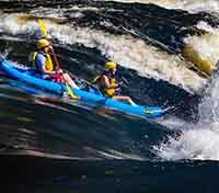 Itinerary SporYak McCoys Chute Ottawa River Wilderness Tours National Whitewater Park Couple Challenge Adventure