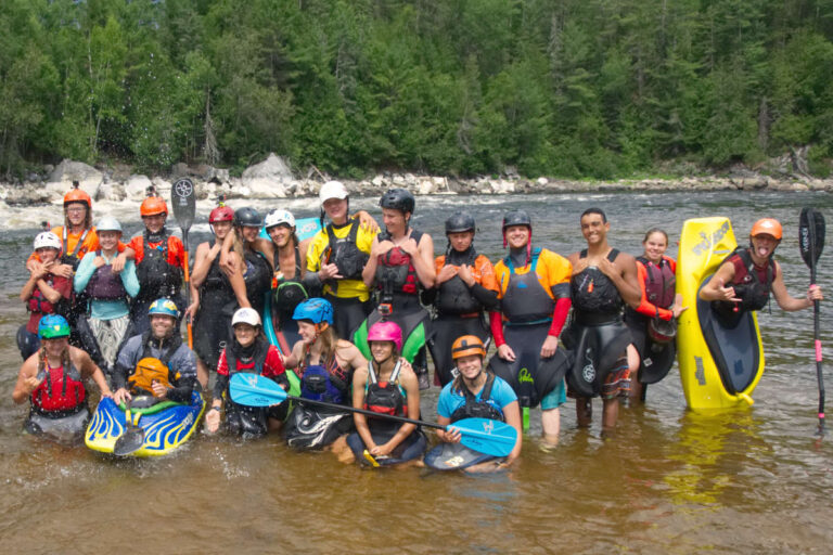 Keener Program Ottawa Kayak School Group Photo Wilderness Torus National Whitewater Park