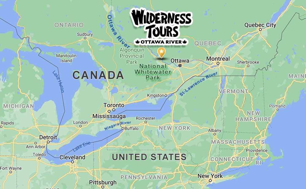 Map Wilderness Tours Location Getting To National Whitewater Park Ontario Canada