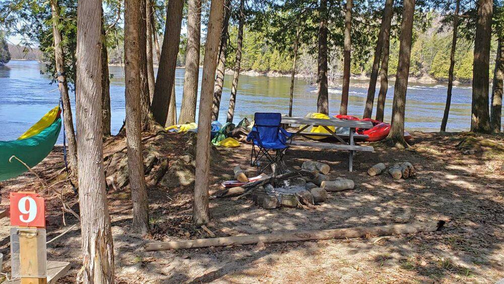 Paddler Riverside Take Out Camping on the Ottawa River